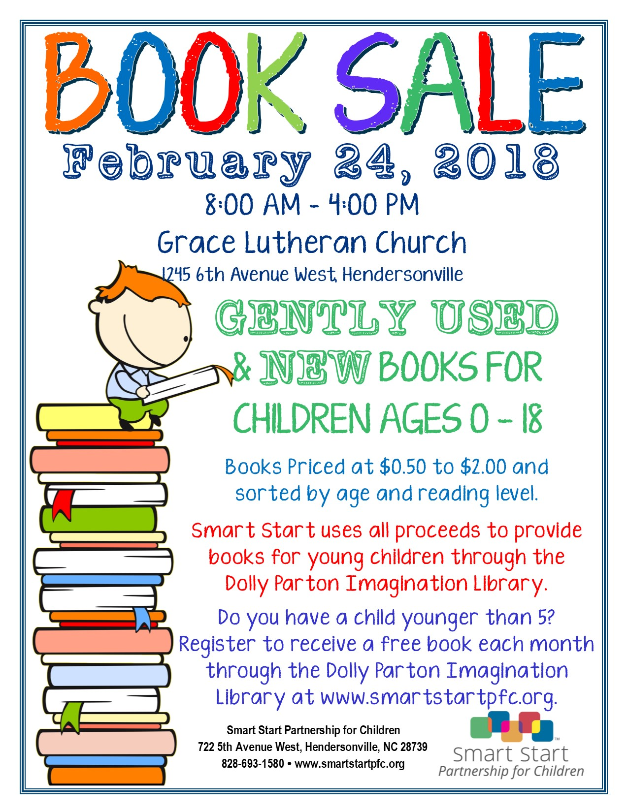 2018 Smart Start Book Sale Flyer