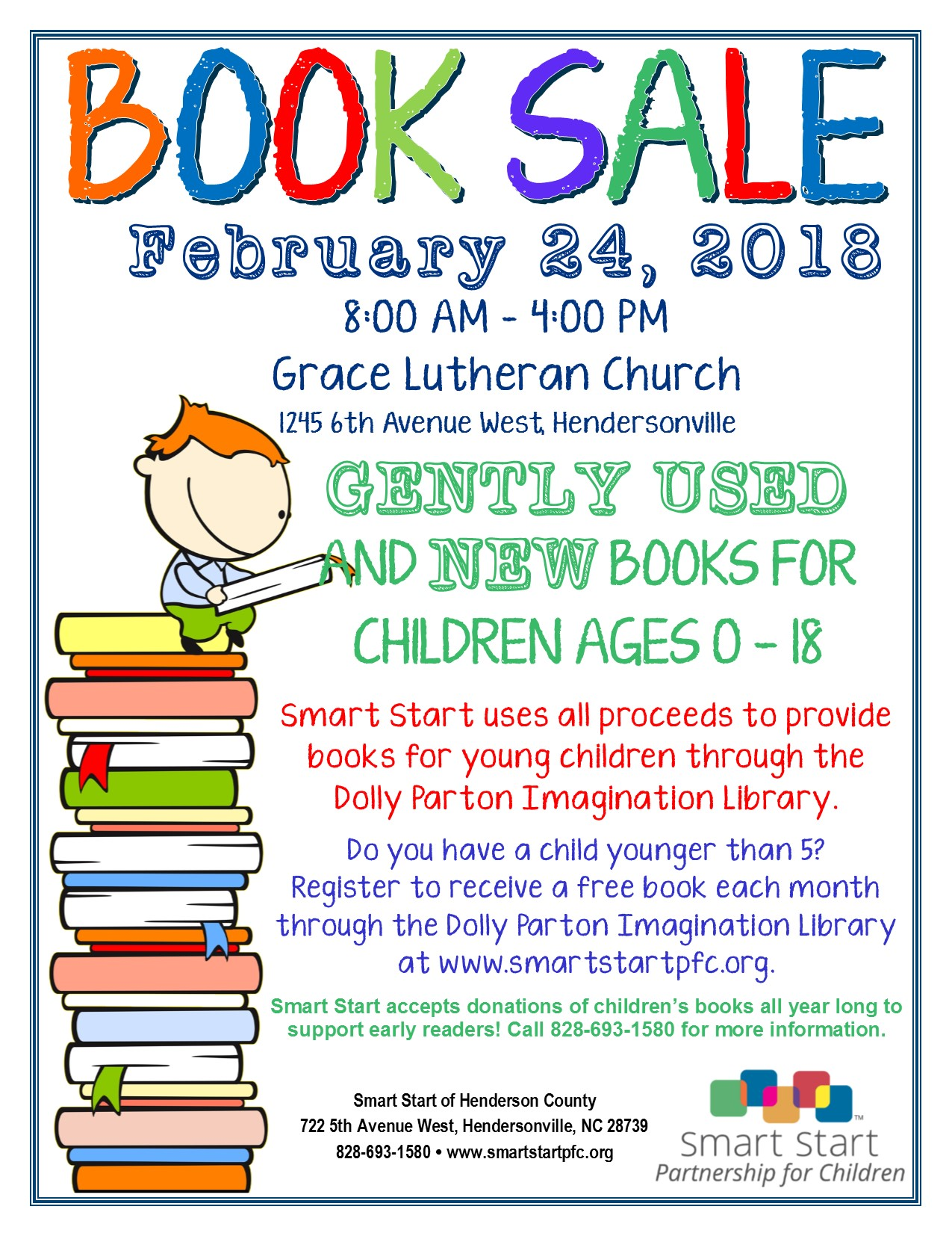SSPFC Book Sale Flyer 2018